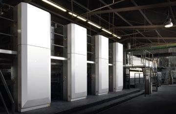 Prime installazioni Komori in Eurora