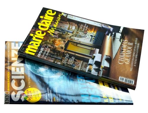 Stampa di riviste con Vernice UV Lucida e Opaca